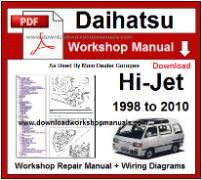 Daihatsu Hi Jet Service Repair Workshop Manual Download